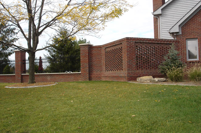 Larrison contracting for Brick fence designs plans